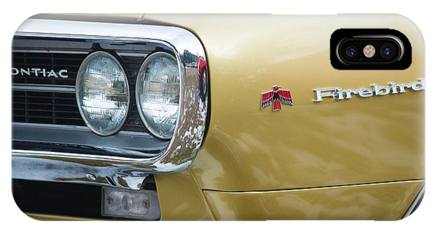 Automobiles IPhone X / XS Case featuring the photograph Pontiac Firebird Gold 1967 by James BO Insogna