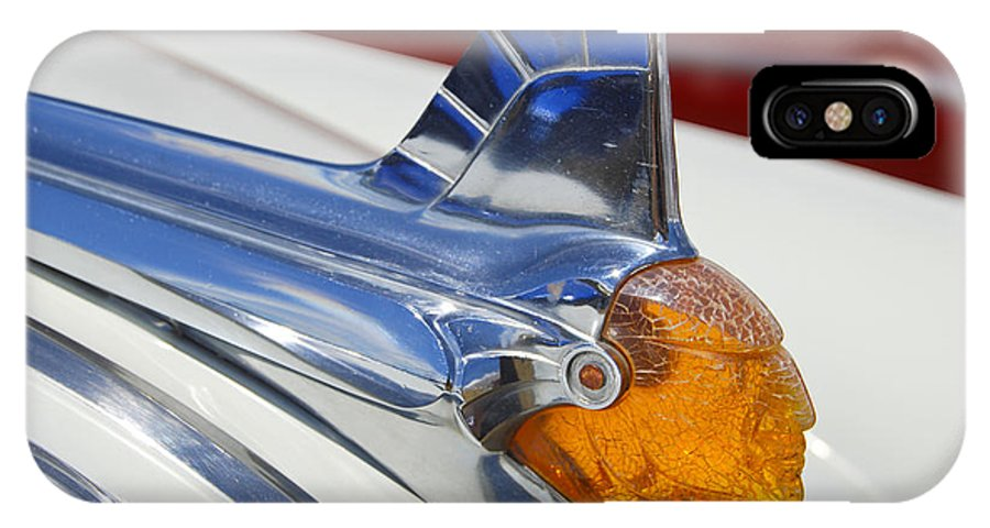 Pontiac IPhone Case featuring the photograph Pontiac Hood Ornament by Larry Keahey