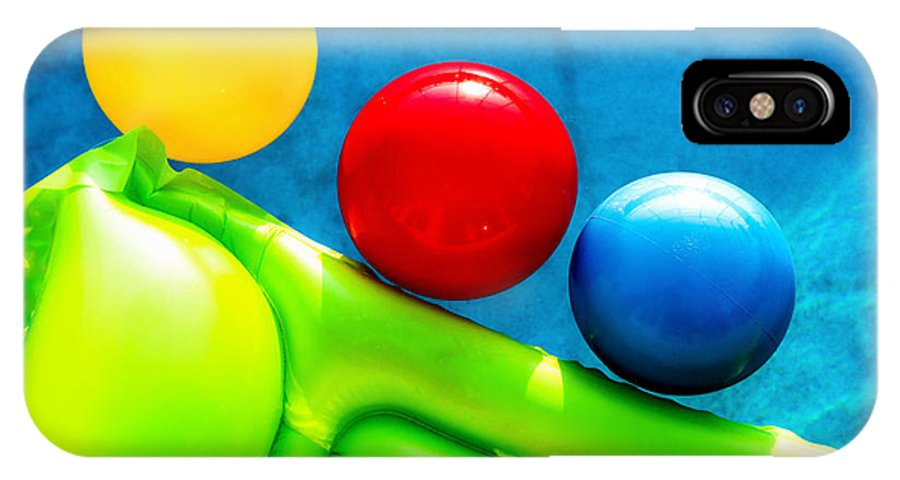 Pool IPhone X Case featuring the photograph Pool Toys by Christopher Holmes