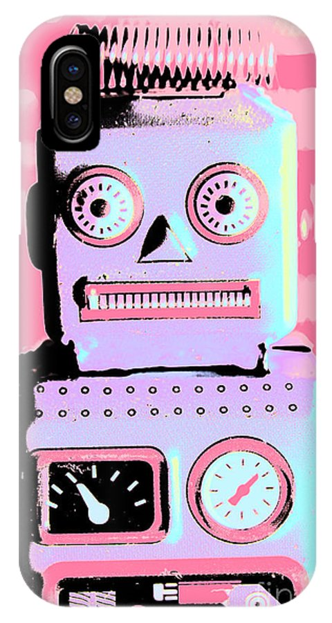 Pop IPhone X Case featuring the photograph Pop Art Poster Robot by Jorgo Photography - Wall Art Gallery