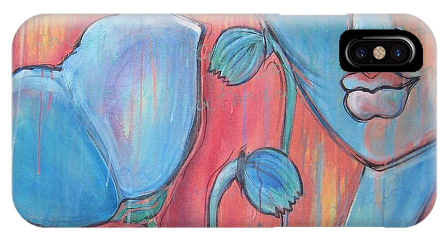 Pop Art IPhone Case featuring the painting Poppies 7 Luna Let Me Go by Laurie Maves ART
