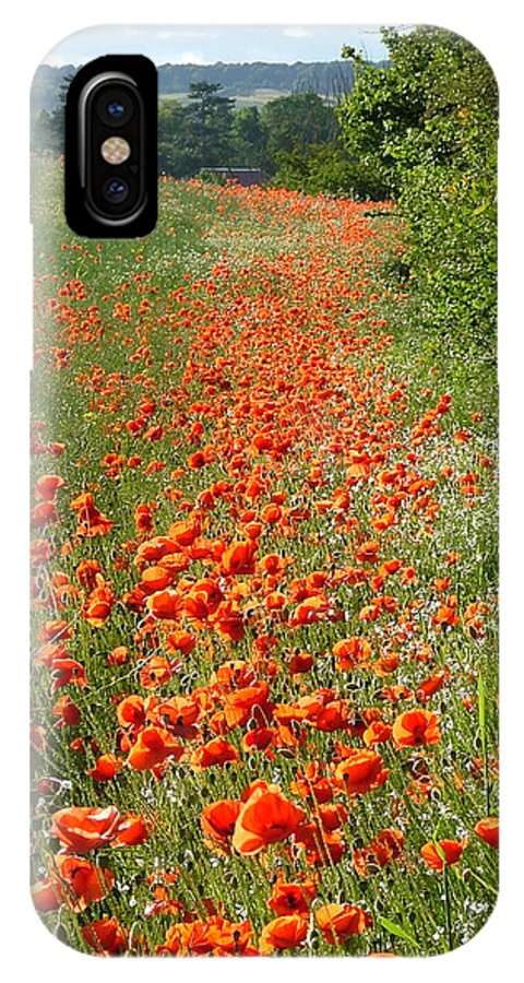 Poppies IPhone X Case featuring the photograph Poppies Awash by Bob Kemp