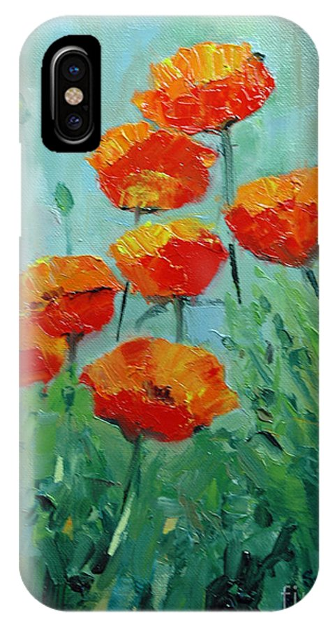 Floral IPhone Case featuring the painting Poppies For Sally by Glenn Secrest