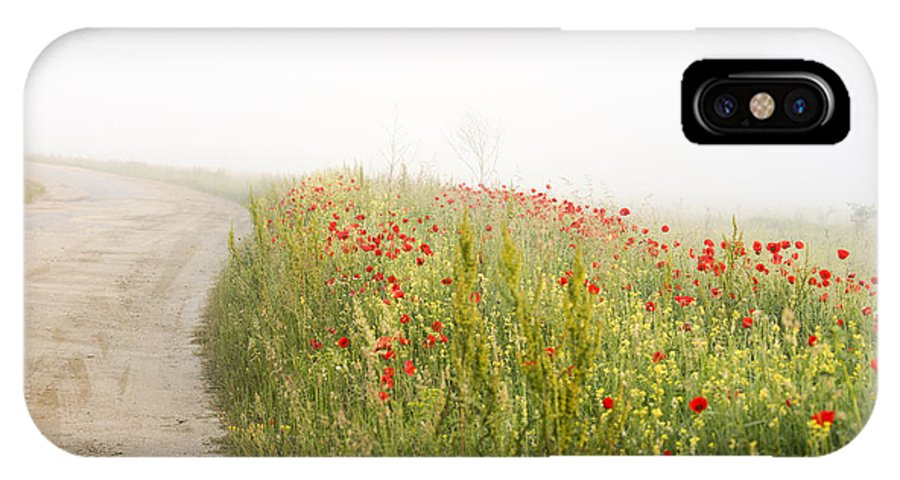 Agriculture IPhone X Case featuring the photograph Poppy flower guarding the road by Adrian Bud