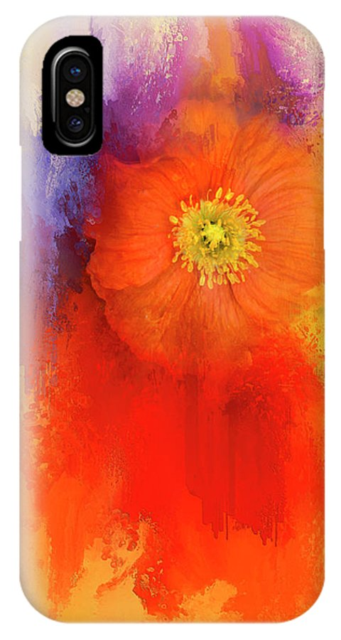 Orange IPhone X Case featuring the photograph Poppy Of Summer by K Powers Photography