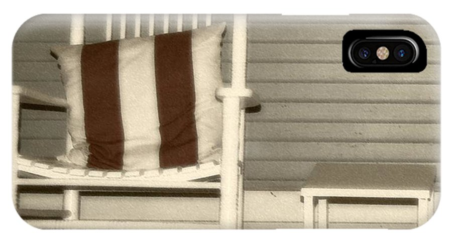 Rocking Chair IPhone X Case featuring the photograph Porch Rocker by Debbi Granruth