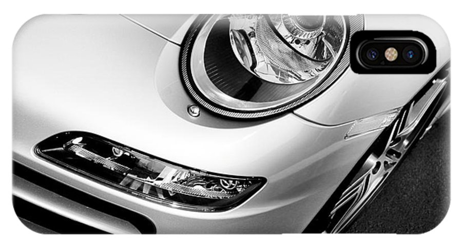 911 IPhone X Case featuring the photograph Porsche 911 Black And White by Paul Velgos