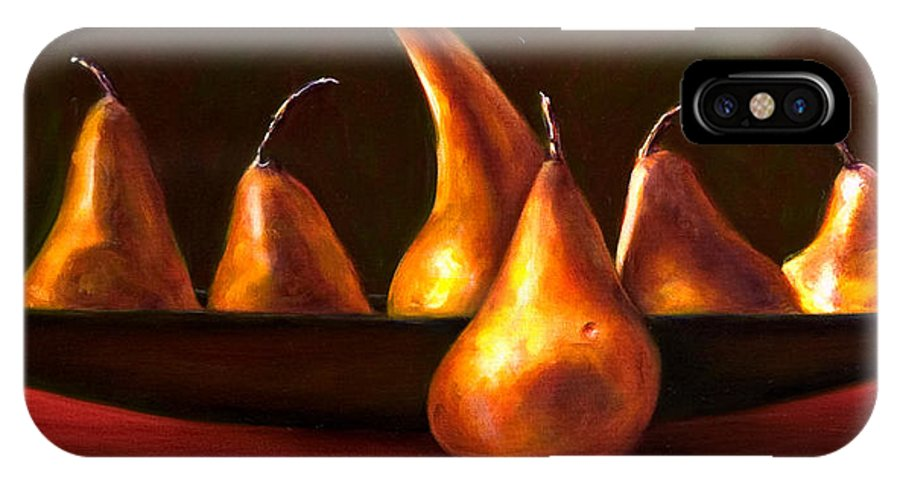 Still Life IPhone X Case featuring the painting Port Au Pear by Shannon Grissom