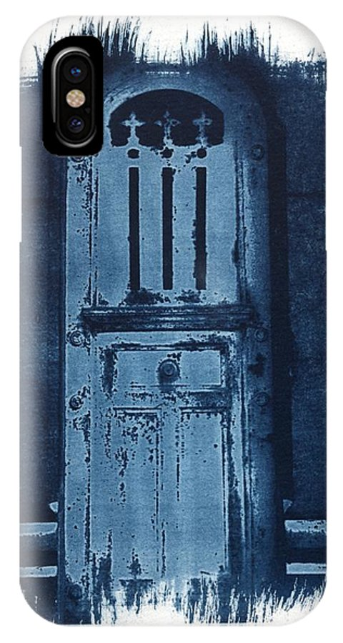 Cyanotype IPhone X Case featuring the photograph Portals by Jane Linders