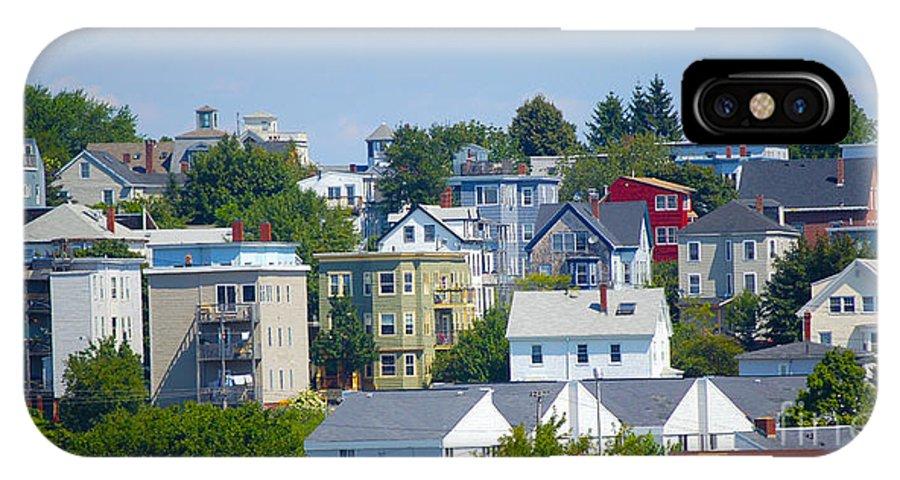 Portland IPhone X Case featuring the photograph Portland Rooftops by Faith Harron Boudreau