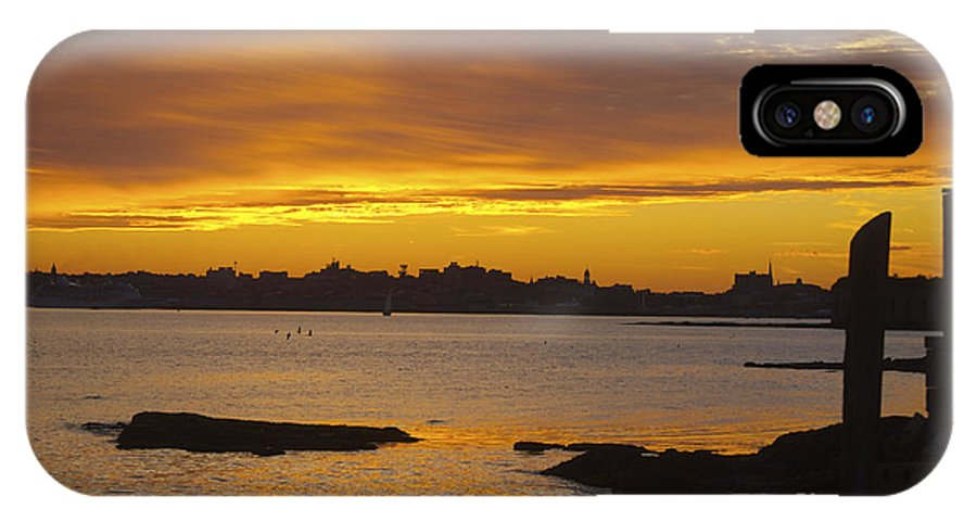 Silhouette IPhone X Case featuring the photograph Portland Skyline by Faith Harron Boudreau
