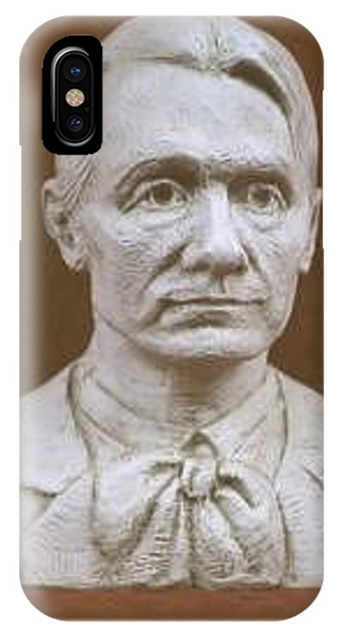 Rudolf Steiner IPhone X Case featuring the sculpture Portrait Bust Of Rudolf Steiner by David Dozier