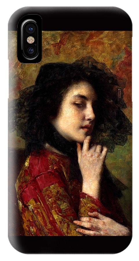 Alexei Alexeivich Harlamoff IPhone X Case featuring the painting Portrait Of A Georgian Princess by Alexei Alexeivich Harlamoff