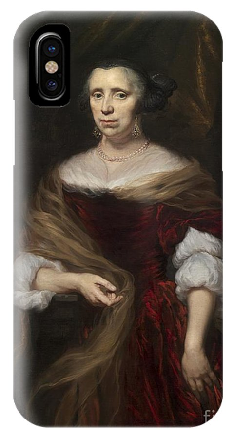 IPhone X Case featuring the painting Portrait Of A Lady by Nicolaes Maes