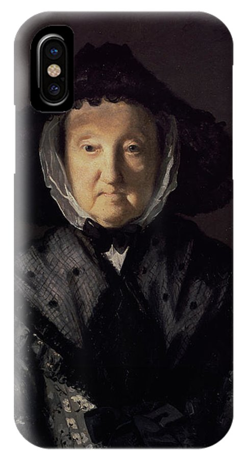British IPhone X Case featuring the painting Portrait Of A Lady, Possibly Mrs. Pigott Of Chetwynd by Joshua Reynolds