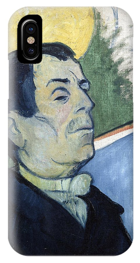 Paul IPhone X Case featuring the painting Portrait Of A Man by Gauguin