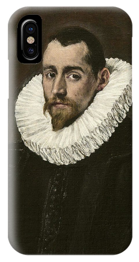 Beard IPhone X Case featuring the painting Portrait Of A Young Gentleman by El Greco