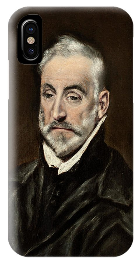 Beard IPhone X Case featuring the painting Portrait Of Antonio De Covarrubias by El Greco
