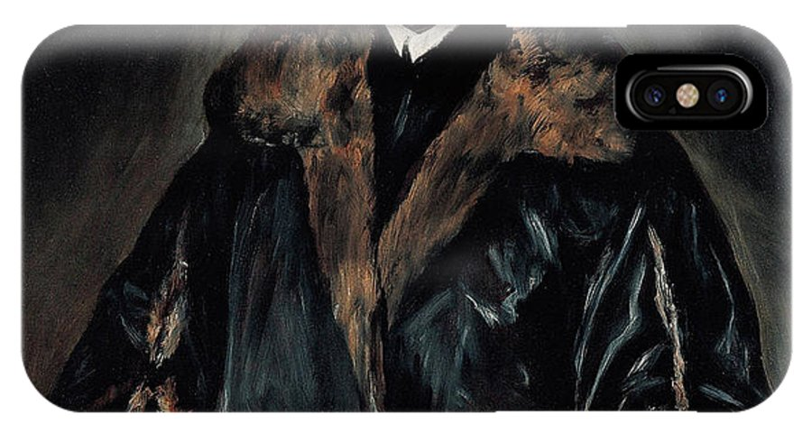 Beard IPhone X Case featuring the painting Portrait Of Dr. Francisco De Pisa by El Greco