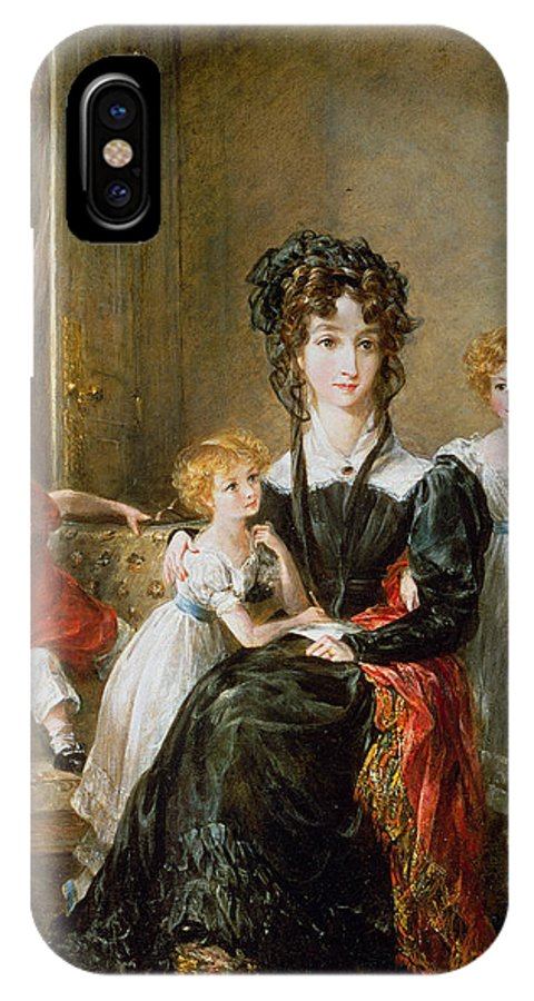 Portrait IPhone X Case featuring the painting Portrait Of Elizabeth Lea And Her Children by John Constable