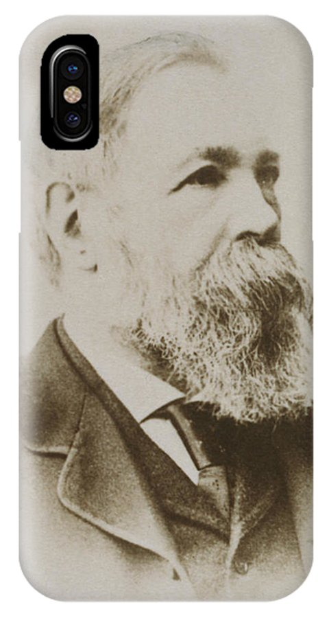Engels IPhone X Case featuring the photograph Portrait Of Friedrich Engels by Karl Pinkau