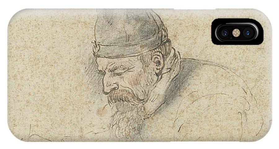(self) Portrait Of Henry Avercamp IPhone X Case featuring the painting Portrait Of Henry Avercamp by Hendrick Avercamp