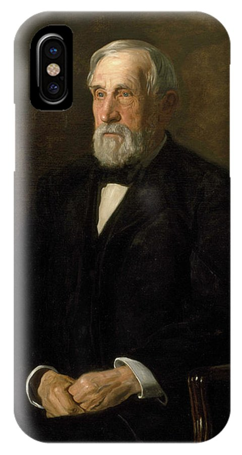 America IPhone X Case featuring the painting Portrait Of John Gest by Thomas Eakins