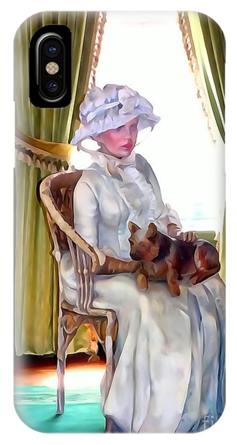 Photo Painting IPhone X Case featuring the digital art Portrait Of Prudence by Ed Weidman