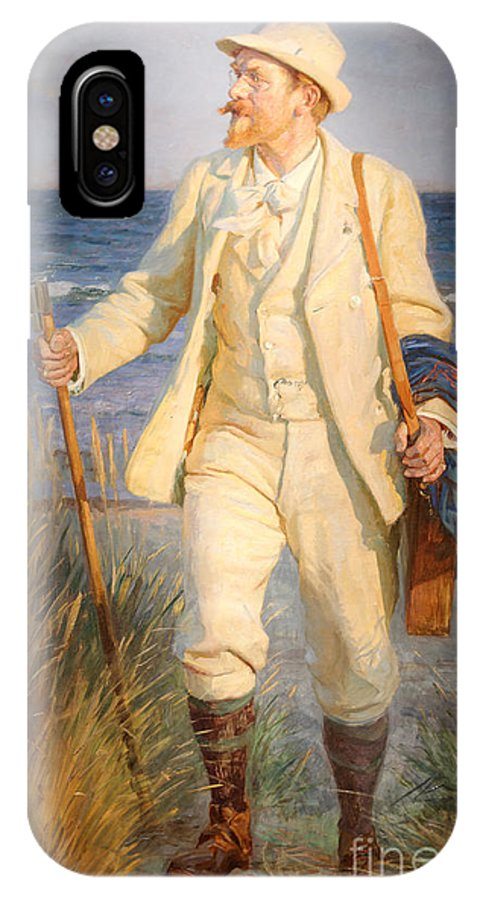 Portrait Of The Danish Painter Peder Severin Kroyer (1851-1909) By Laurits Tuxen IPhone X Case featuring the painting Portrait Of The Danish Painter Peder Severin Kroyer by Celestial Images