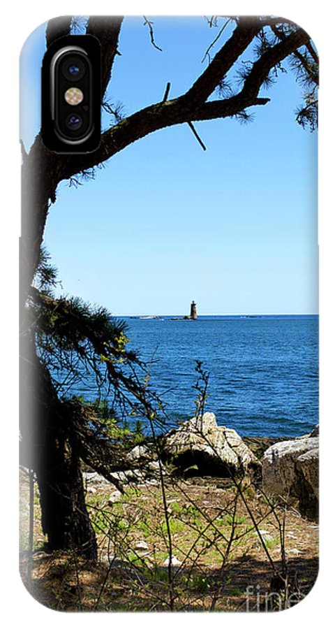 Lighthouses IPhone X Case featuring the photograph Portsmouth Harbor Light by Skip Willits