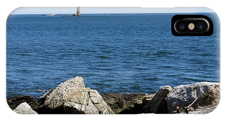 Lighthouses IPhone X Case featuring the photograph Portsmouth Harbor Lighthouse by Skip Willits