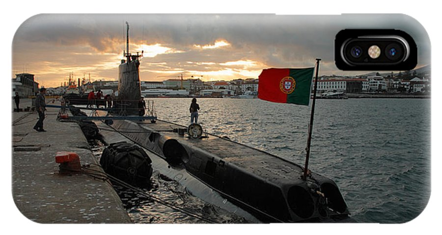 Harbor IPhone X Case featuring the photograph Portuguese Navy Submarine by Gaspar Avila
