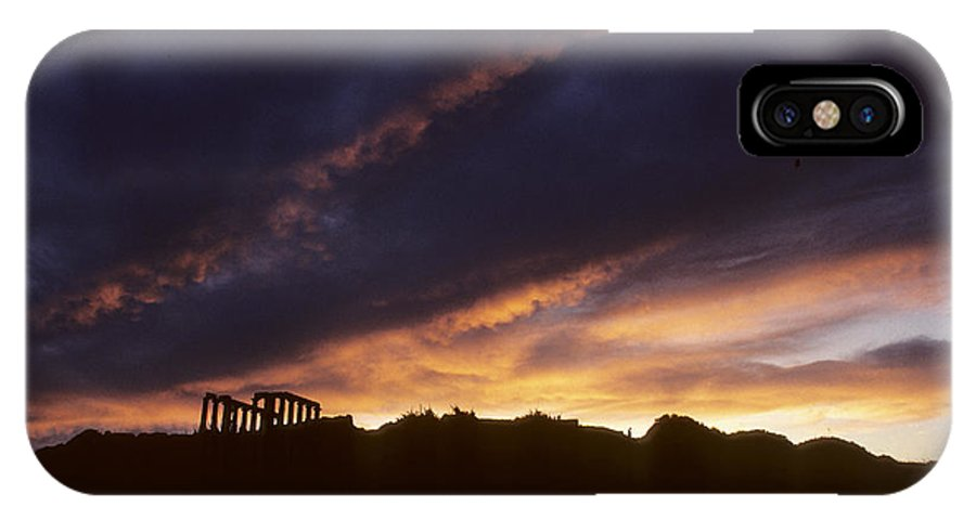 Poseidon IPhone X Case featuring the photograph Poseidon At Sunset by Carl Purcell
