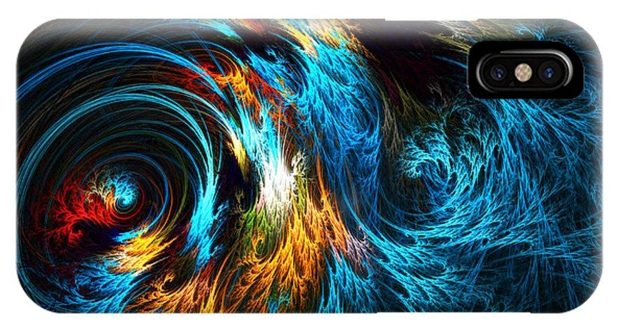 Poseidon IPhone X Case featuring the digital art Poseidon's Wrath by Lourry Legarde