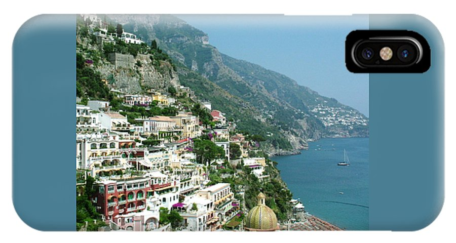 Positano IPhone X Case featuring the photograph Positano In The Afternoon by Donna Corless