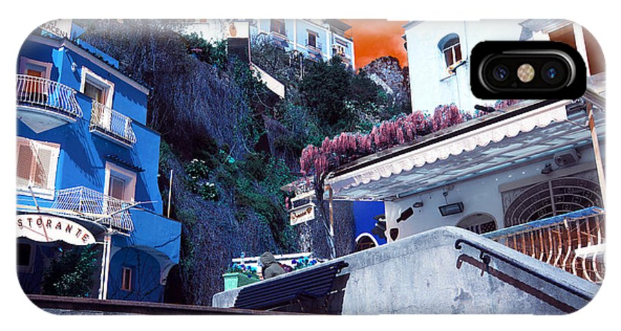 Positano Living Pop Art IPhone X / XS Case featuring the photograph Positano Living Pop Art by John Rizzuto