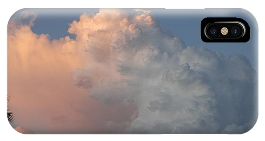Clouds IPhone X Case featuring the photograph Post Card Clouds by Rob Hans