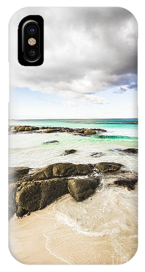 Background IPhone X / XS Case featuring the photograph Postcard Perfect Ocean Background by Jorgo Photography - Wall Art Gallery