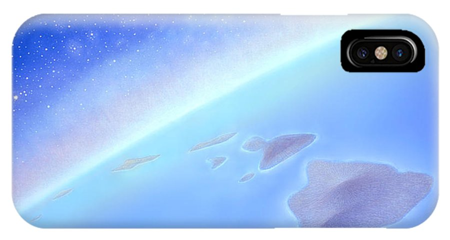 Hawaiian Islands IPhone X Case featuring the painting Postcards From Concorde by Kevin Smith