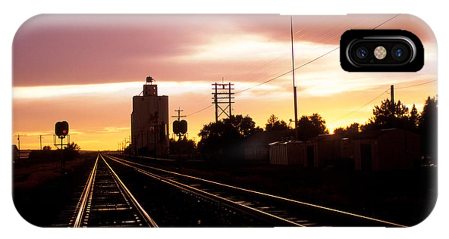 Potter IPhone X Case featuring the photograph Potter Tracks by Jerry McElroy