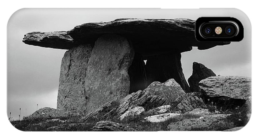 Landscapes IPhone X Case featuring the photograph Poulnabrone Dolmen No1 by Martina Fagan