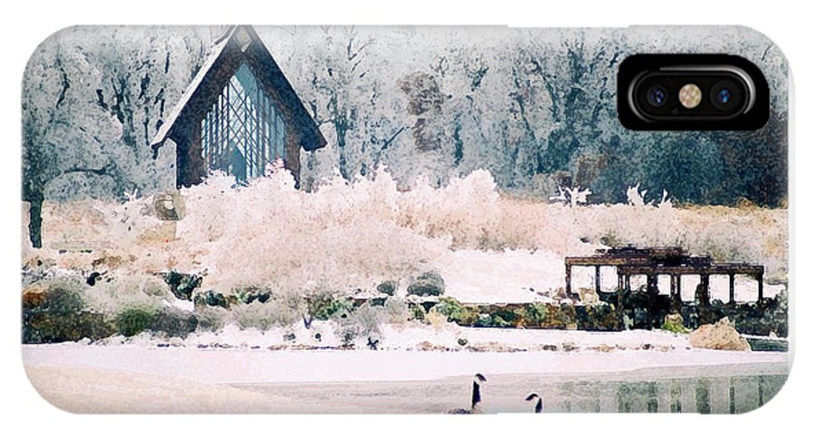Landscape IPhone X Case featuring the photograph Powell Gardens Chapel by Steve Karol