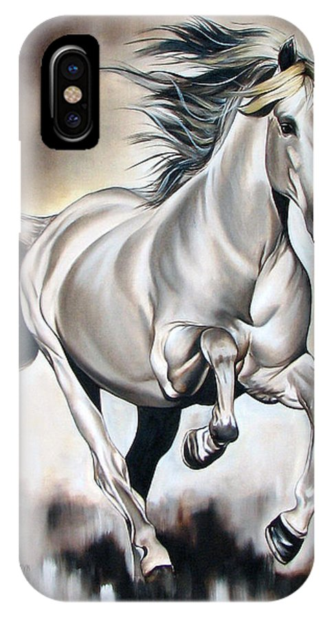 Horse IPhone Case featuring the painting Power by Ilse Kleyn