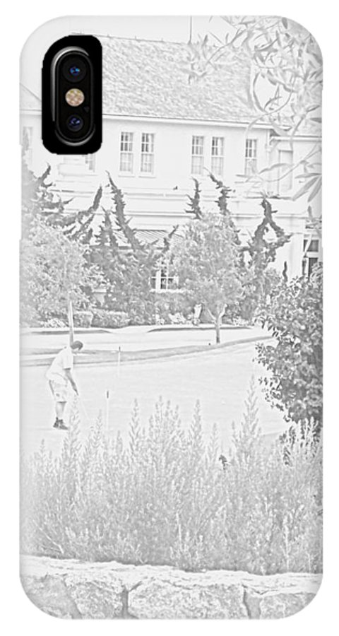 Golf IPhone X Case featuring the photograph Practice Round At Pebble Beach by Pharris Art
