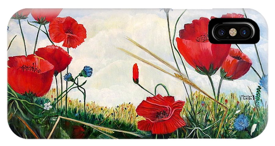 Poppies IPhone X Case featuring the painting Prayer And Praise by Marilyn McNish