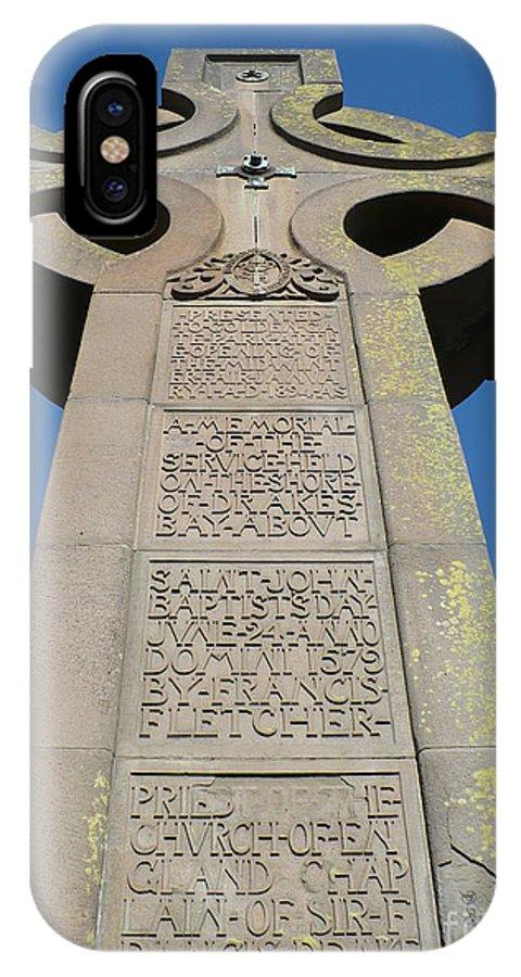 Cross IPhone X Case featuring the photograph Prayer Book Cross In Golden Gate Park by Carol Groenen