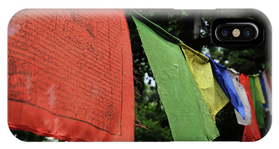 IPhone X Case featuring the photograph Prayer Flags by Michael Swiderski