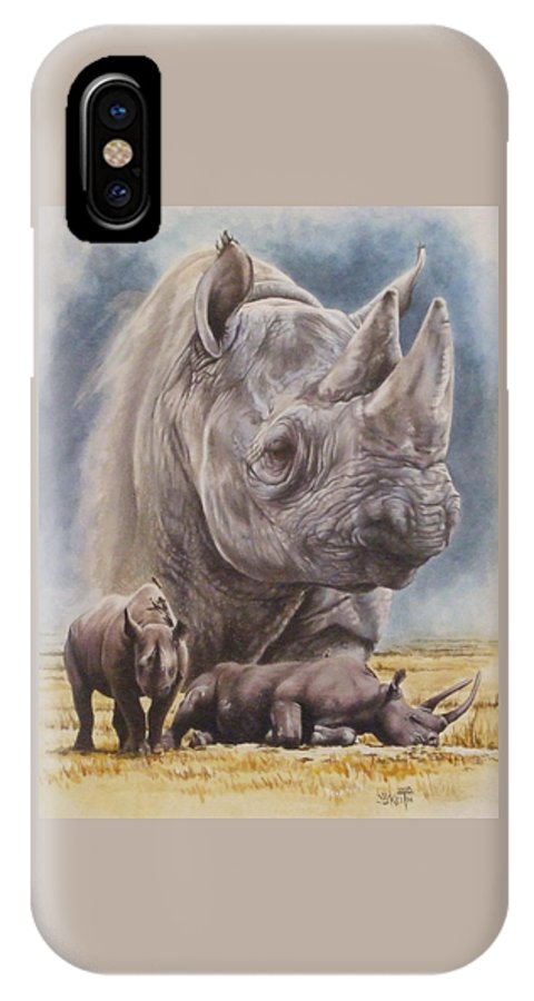 Wildlife IPhone X Case featuring the mixed media Precarious by Barbara Keith