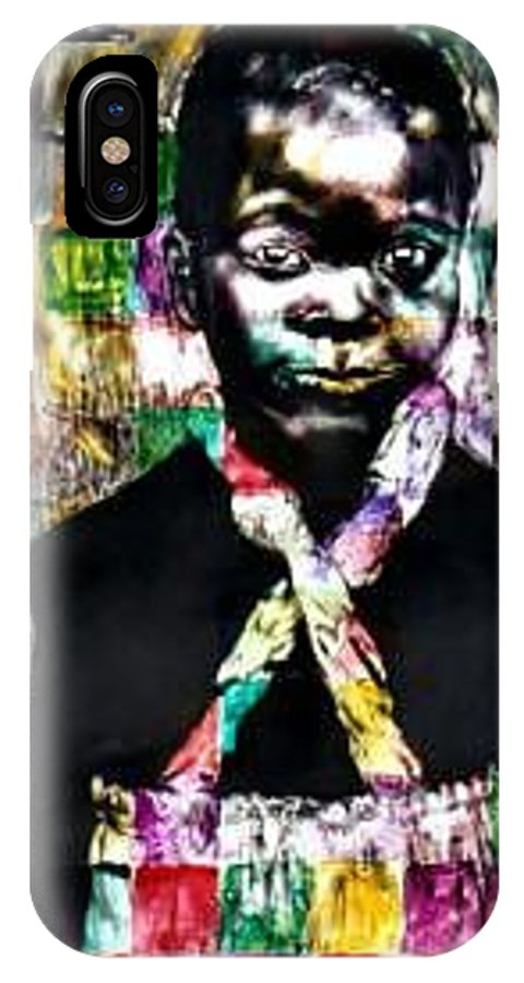 Portrait IPhone X Case featuring the mixed media Precious by Chester Elmore