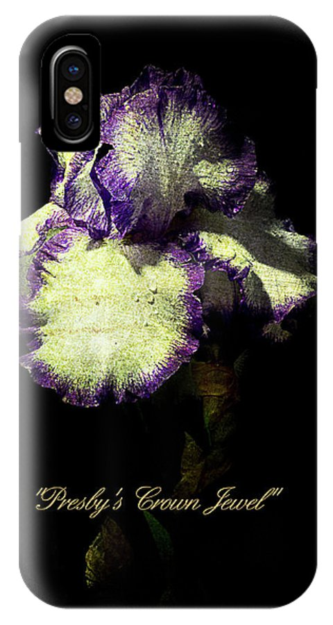 Agriculture IPhone X Case featuring the photograph Presby's Crown Jewel Iris by John Trax